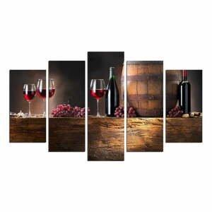 Viacdielny nástenný obraz Wine Food