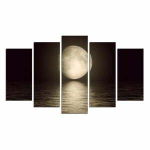 Viacdielny nástenný obraz Moon Over The River