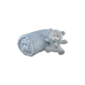 Bavlnená detská deka Aksu Mavi, 110 × 90 cm