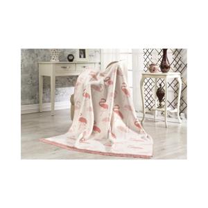 Bavlnená deka Aksu Flamingo, 152 × 127 cm