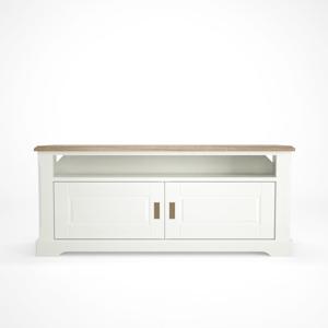Biely drevený TV stolík Artemob Campton