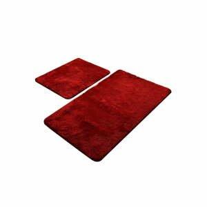 Súprava 2 červených kúpeľňových predložiek Mismo Ratujo