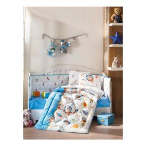 Bavlnený detský posteľný set Uzay Oyunu Blue, 100 × 170 cm