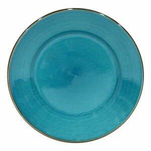 Modrý tanier z kameniny Casafina Sardegna, ⌀ 30 cm