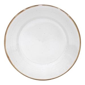 Biely tanier z kameniny Casafina Sardegna, ⌀30cm
