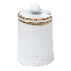 Biela dóza z kameniny Casafina Sardegna, 150 ml