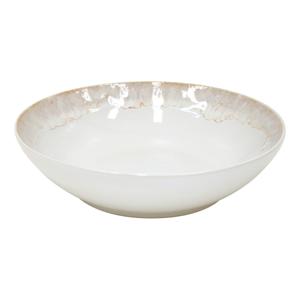 Biely hlboký tanier z kameniny Casafina Taormina, ⌀ 21 cm