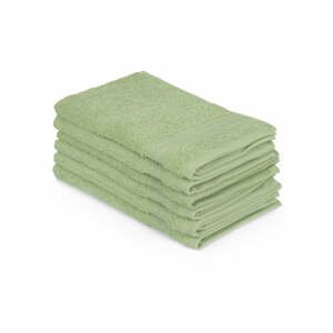 Sada 6 zelených bavlnených uterákov Madame Coco Lento Verde, 30×50 cm