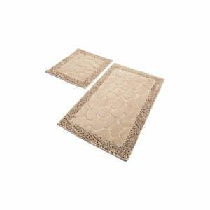 Súprava 2 béžových bavlnených kúpeľňových predložiek Confetti Bathmats Stone Beige
