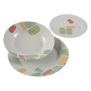 18-dielna sada porcelánových tanierov Versa Kopat