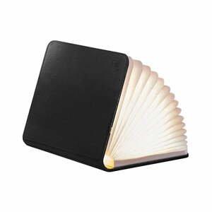 Čierna LED stolová lampa v tvare knihy Gingko Mini