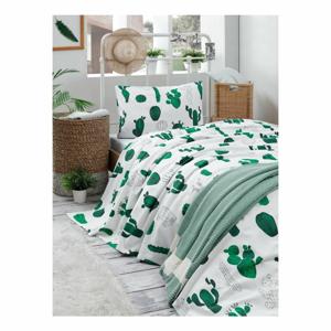 Set bavlnenej ľahkej prikrývky cez posteľ, plachty a obliečky na vankúš Missmo Larissa, 160×235 cm