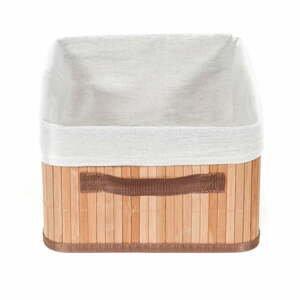 Hnedý úložný bambusový kôš Compactor Carossa
