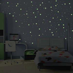 Sada 240 samolepiek svietiacich v tme Ambiance Milky Way, 240 ks