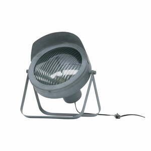 Sivá stolová lampa WOOOD Lester