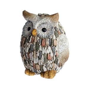 Záhradná dekorácia Dakls Garden Deco Owl With Stones, výška 22 cm