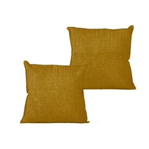 Obliečka na vankúš Linen Couture Mustard, 45×45 cm