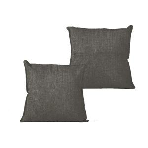 Obliečka na vankúš Linen Couture Dark Grey, 45×45 cm