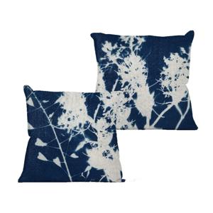Obliečka na vankúš Linen Couture Blue Spots, 45×45 cm