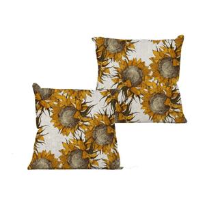 Obliečka na vankúš Linen Couture Sunflower, 45×45 cm
