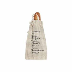 Látkový vak na chlieb s prímesou ľanu Linen Couture Bag Shopping, výška 42 cm