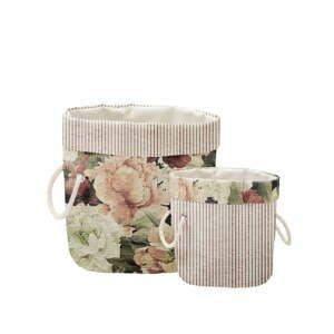 Sada 2 ks dekoratívnych košov Linen Couture Roses