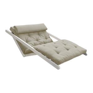 Rozkladacia pohovka s ľanovým poťahom Karup Design Figo White/Linen