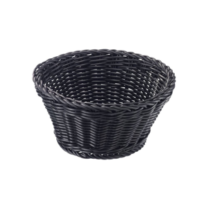 Čierny stolový košík Saleen, ø 18 cm
