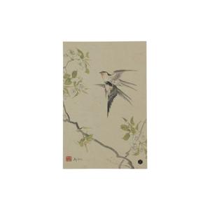 Plagát z ručne vyrábaného papiera BePureHome Swallows, 47 × 32 cm