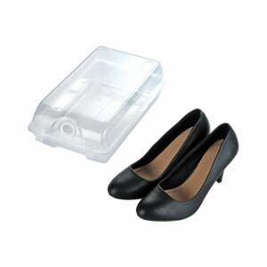 Transparentné úložný box na topánky Wenko Smart, šírka 19,5 cm