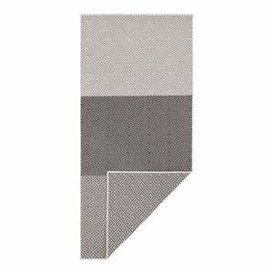 Béžovo-čierny obojstranný vonkajší koberec Bougari Borneo, 80 x 350 cm