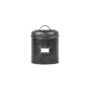 Čierna kovová dóza LABEL51, ⌀ 13,5 cm