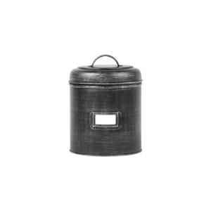 Čierna kovová dóza LABEL51, ⌀ 17,5 cm