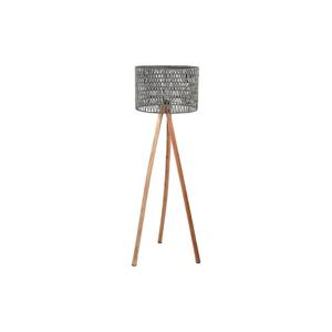 Sivá lampa z mangového dreva LABEL51 Stripe