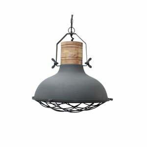 Sivé stropné svietidlo LABEL51 Grid, ⌀ 52 cm