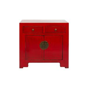 Červená malá komoda Santiago Pons Orient