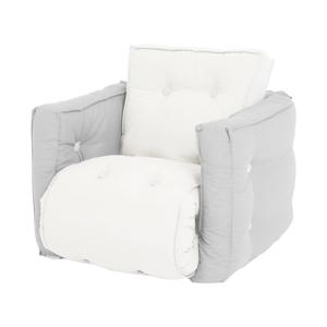 Detské svetlosivé rozkladacie kresielko Karup Design Mini Dice Light Grey