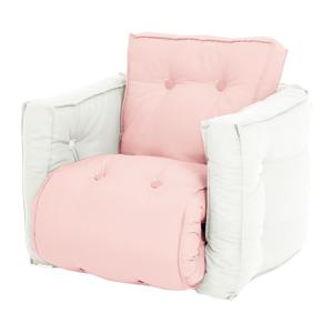 Detské ružové rozkladacie kresielko Karup Design Mini Dice Pink Peonie//Natural