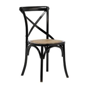 Čierna jedálenská stolička Interstil Vintage