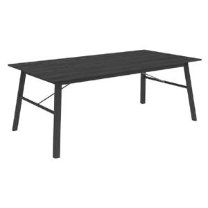 Čierny jedálenský stôl Interstil Carver, 200×100 cm