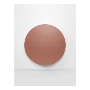Ružovo-biely nástenný multifunkčný stôl EMKO Pill