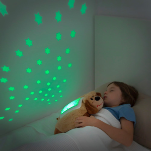 Detský plyšový LED projektor InnovaGoods Dog