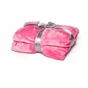 Ružová deka Tarami, 200×150 cm