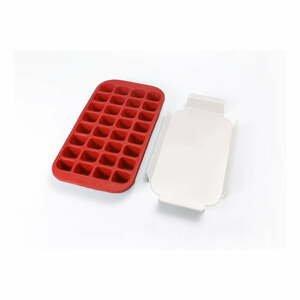 Červená silikónová forma na ľad Lékué Industrial, 32 kociek