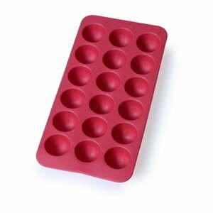 Červená silikónová forma na ľad Lékué Round, 18 kociek