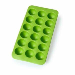 Zelená silikónová forma na ľad Lékué Round, 18 kociek