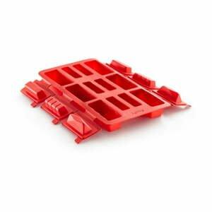 Červená silikónová forma na mini rolády Lékué Round