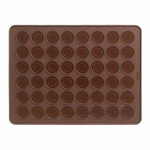 Hnedá silikónová podložka na makronky Lékué