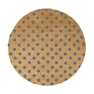 Sivá okrúhla rohožka z prírodného kokosového vlákna Artsy Doormats Dots, ⌀ 70 cm