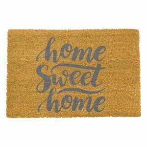 Rohožka z prírodného kokosového vlákna Artsy Doormats Home Sweet Home Grey, 40 x 60 cm